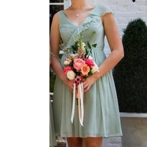 J Crew Sage Green Knee Length Formal Dress